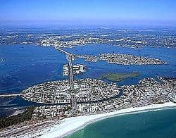 Image of Sarasota Florida from Gulf