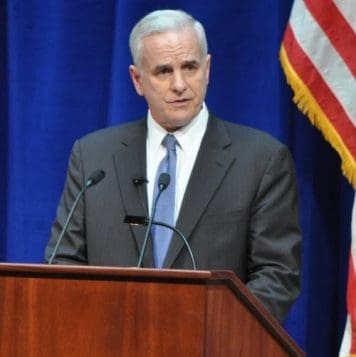 Senator Dayton addressing NORAD timeline changes