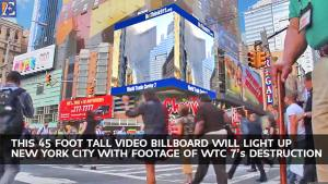 Image of ReThink911 Digital Billboard NYC
