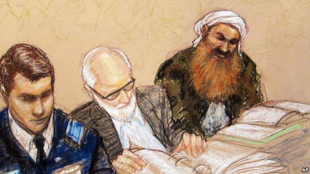 Image of sketch of alleged mastermind Khalid Sheik Mohammed