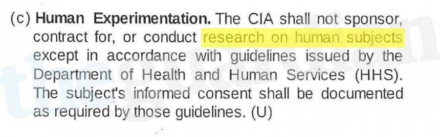 The CIAs internal guidelines for human experimentation