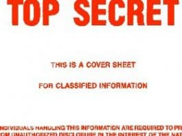 Image of text: Top Secret - classified