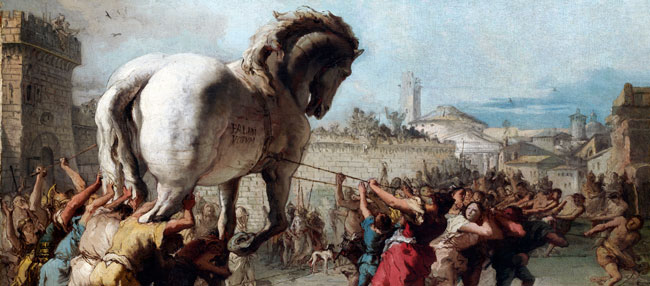 The Procession of the Trojan Horse into Troy, by Giovanni Domenico Tiepolo, c. 1760