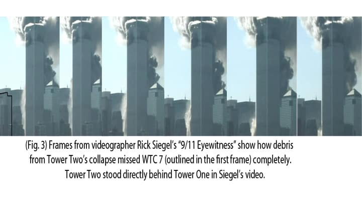 Twin Towers' demolition sequence of still frames