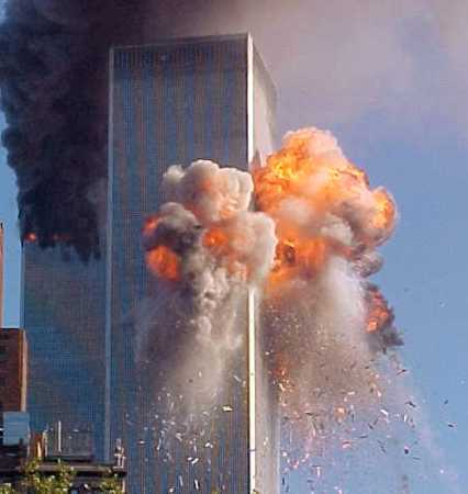 Screenshot of the WTC South Tower Hit by United 175