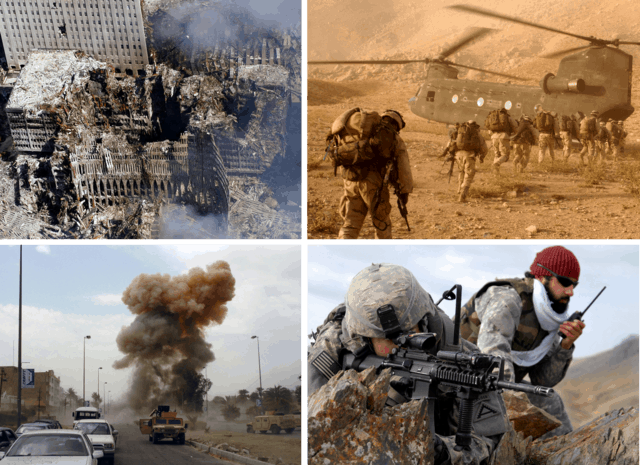 Images from wars in afghanistan and iraq