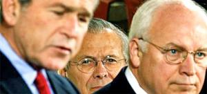 Image of Bush, Cheney, Rumsfeld