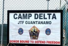 Photo of Guantanamo Camp Delta JTF sign