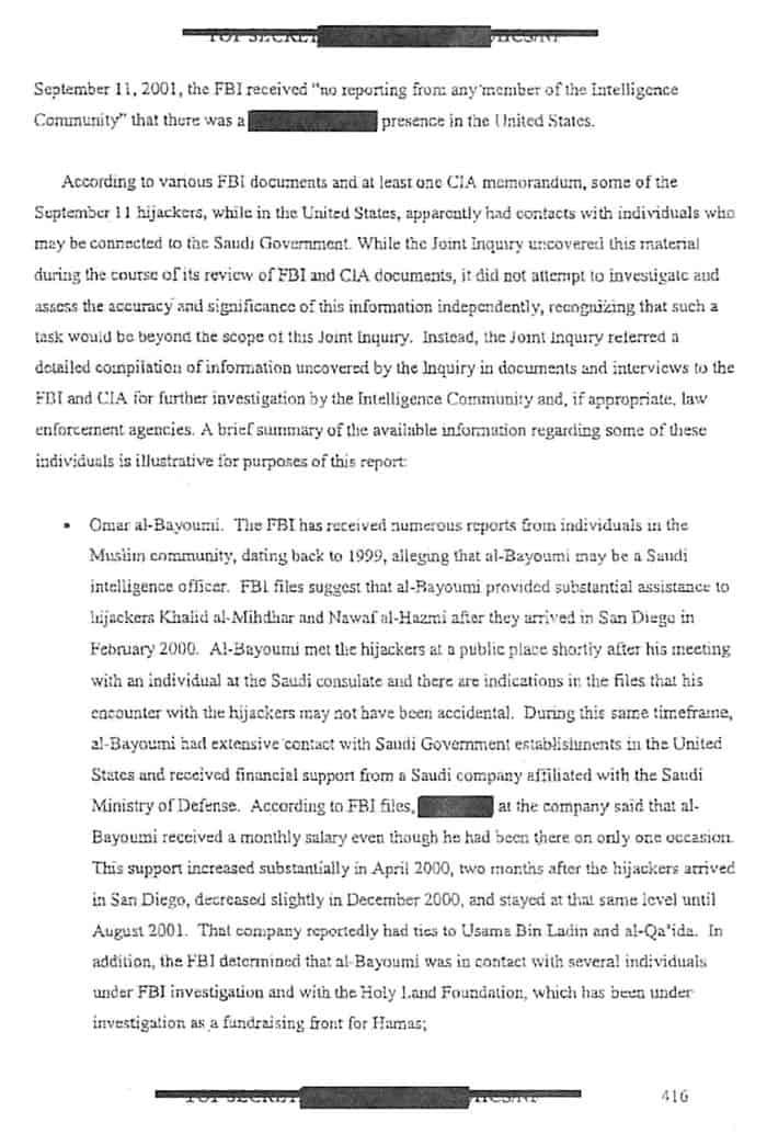 Contains information regarding Omar al-Bayoumi