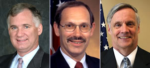 Photos of William J. Lynn III, Dov Zakheim, Robert Hale