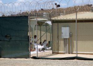 Image of detainees at Guantanamo Bay