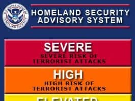 Homeland Security Advisory System, remember the color coded fear levels