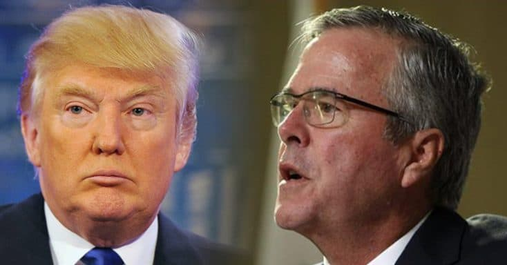 Photo of of Donald Trump and Jeb Bush