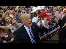 Photo of Donald Trump at rally