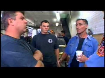FDNY firefighters in the firehouse describing explosion after explosion as they ran from World Trade Center building explosions