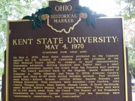 Image of an Kent State Ohio Historical Marker