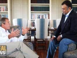 Photo of President Bush meets with Saudi Ambassador Bandar.