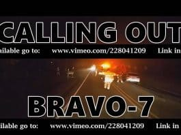 Opening screen for the short film of firefighters: Calling Out Bravo 7