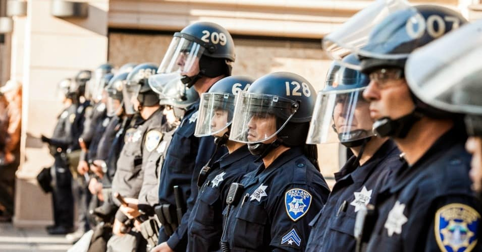 Photo of riot police