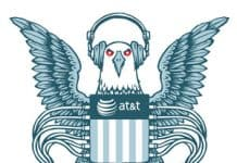 Graphic of the American Eagle and the ATT logo