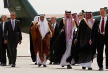 Photo of Obama and Saudi Leaders