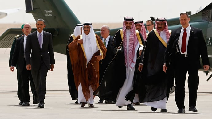 Photo of Obama and Saudi Leaders