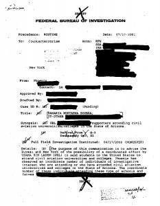 Image of Phoenix FBI Memo