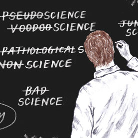 Image of pseudoscience blackboard