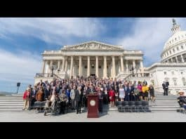 Lawmakers in front of Congress at the Remembrance Ceremony on the 15th Anniversary of 9/11