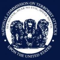 Disinfo rule #1: Hear no evil, see no evil, speak no evil depicted as a satire of the 9-11 Commission Report seal