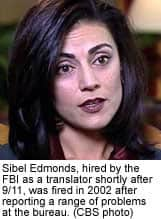 Photo of Sibel Edmonds, FBI Whistleblower