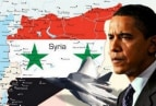 Image of Obama and Syria map