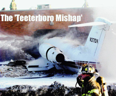 Jet crashes in Teeterboro