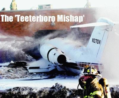 Jet crashes in Teeterboro