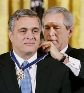 George Tenet and Geoge Bush