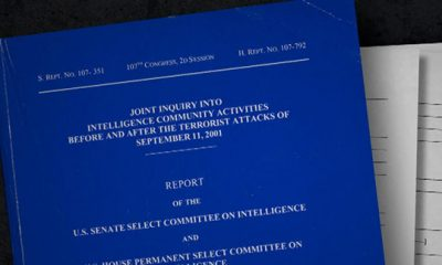 Photo of the cover of the The Joint Inquiry into Intelligence Community Activities (missing 28 pages)