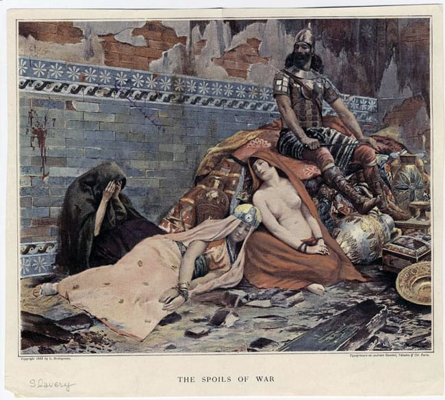 1893 image of the spoils of war