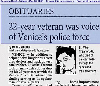Image of Treanor Obituary