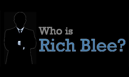 Image of text: Who is Rich Blee?